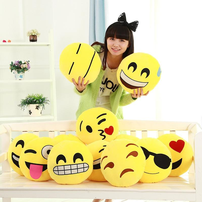 Cute and Soft Stuffed Emoji Pillow