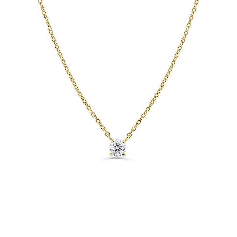 Cubic Zircon Chain Necklace 925 Sterling Silver - NeedIt.ca