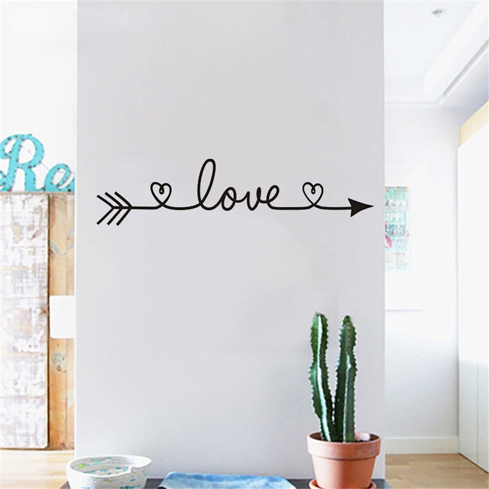 Love Arrow with Heart Wall Decal