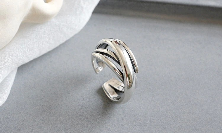 """Layers"" Resizable Ring 925 Sterling Silver"