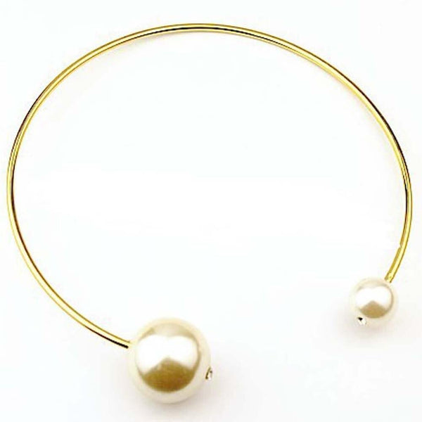 Open Choker Necklace with Pearls - NeedIt.ca