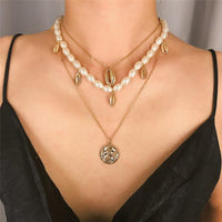 Multi Layered Choker Necklace with Pearls - NeedIt.ca