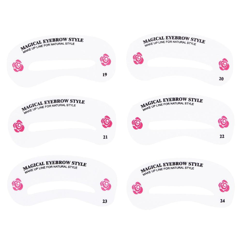 24 pcs/pack Reusable Eyebrow Stencil Set