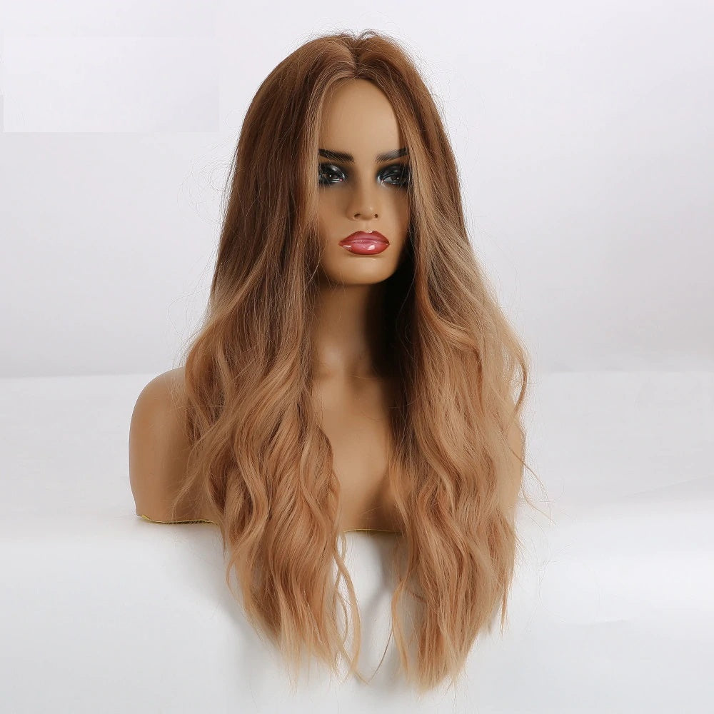 Lydia - Wavy Ombre Lighter Brown Wig