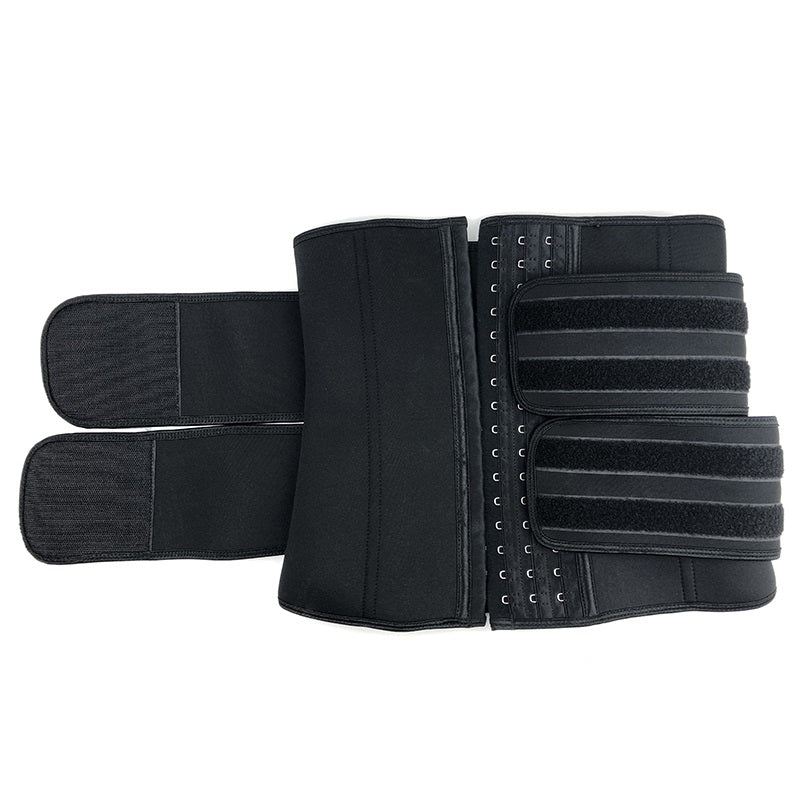 Neoprene Double Compression Waist Trainer with Hooks