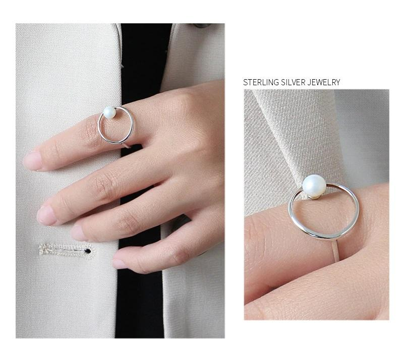 Round Ring with pearl 925 Sterling Silver - NeedIt.ca