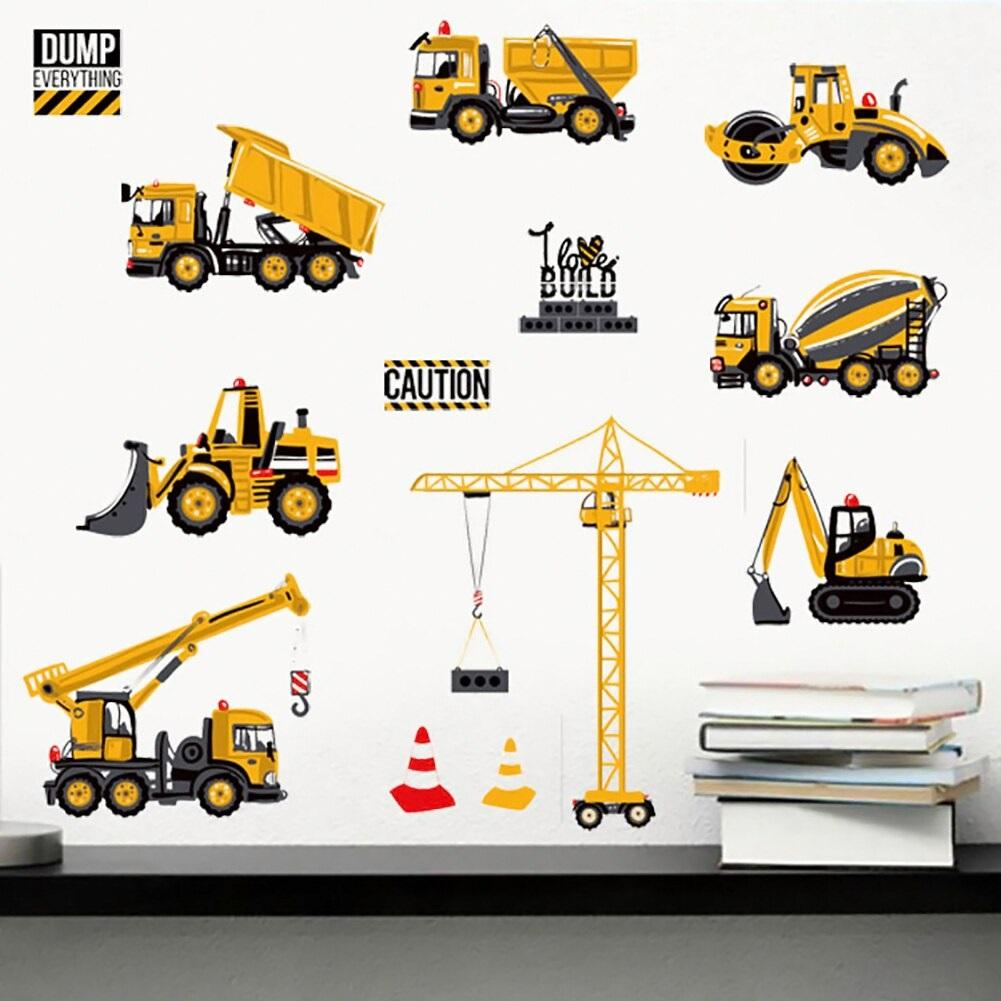 Transport Cars Truck Digger Wall Stickers For Kids - NeedIt.ca