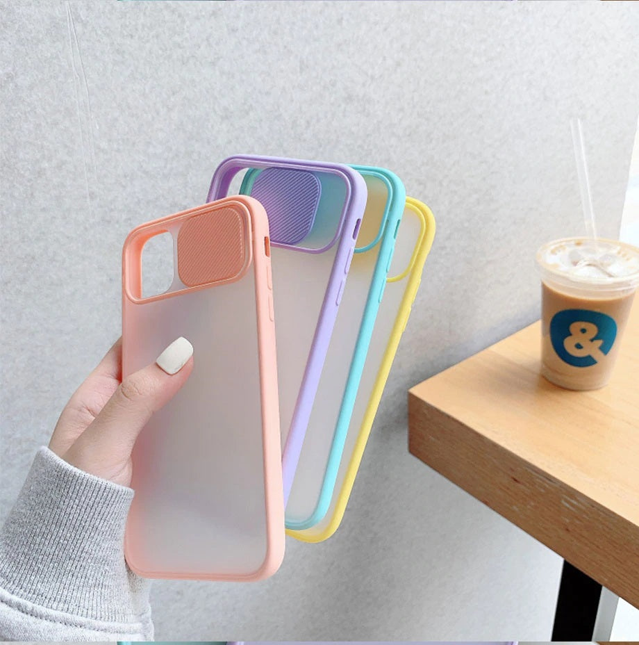 Matte Transparent iPhone Case with Camera Lens Protection