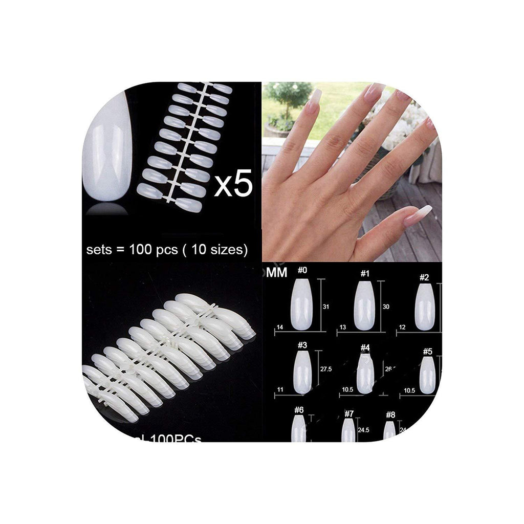 100 PCS/bag False Acrylic Nails for Manicure - NeedIt.ca