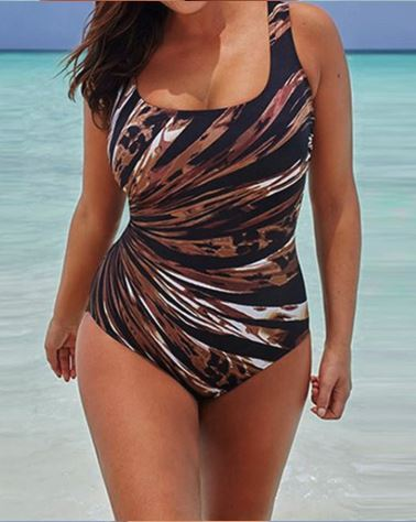 Leopard Striped Women Swimsuit