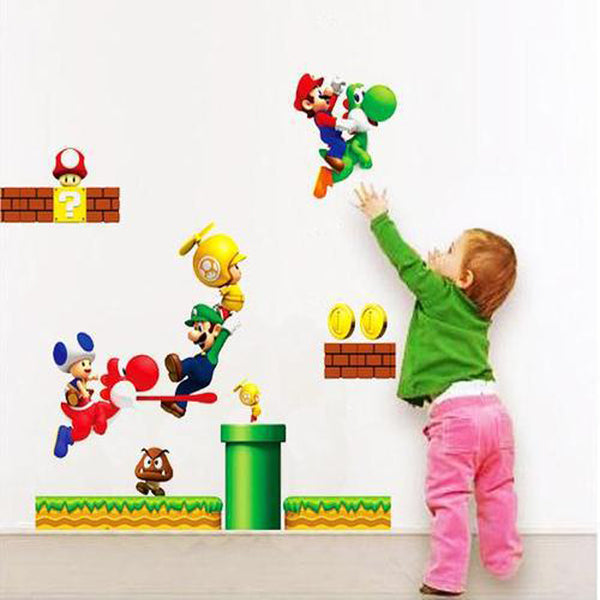 Super Mario and Yoshi Wall Decal