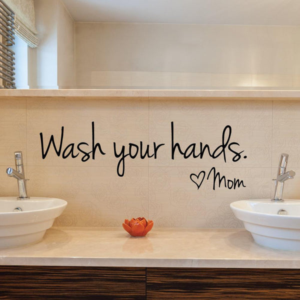Wash Your Hands Wall Decal - NeedIt.ca
