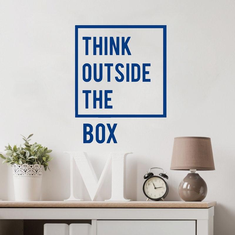Think Outside The Box Inspirational Wall Decal - NeedIt.ca