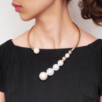 Simulated Pearl Choker Necklace For Women - NeedIt.ca