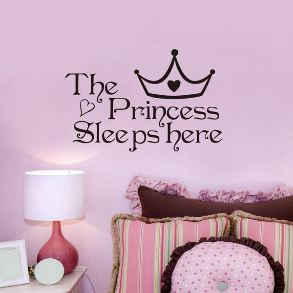 """The Princess Sleeps Here"" Wall Decal - NeedIt.ca"