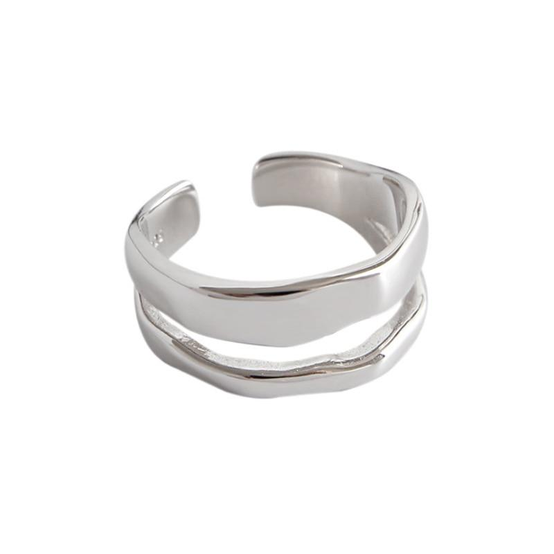 Double Layer Ring 925 Sterling Silver - NeedIt.ca