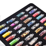 Nail Art Rhinestones Beads Sequins Glitter 48 Bottles/set in a case