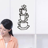 Coffee Cups Wall Decal