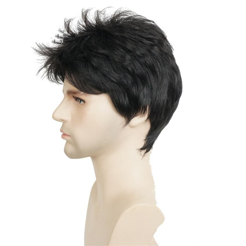 """Jackson"" Natural Black Short Men's Wig - NeedIt.ca"