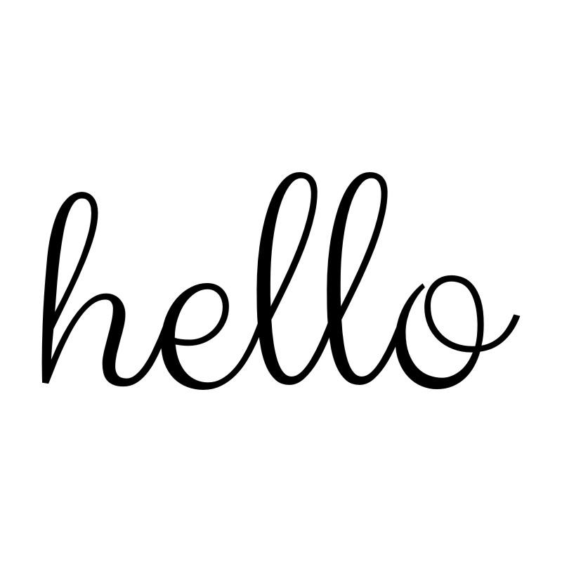 Hello Front Door Decal Sticker - NeedIt.ca