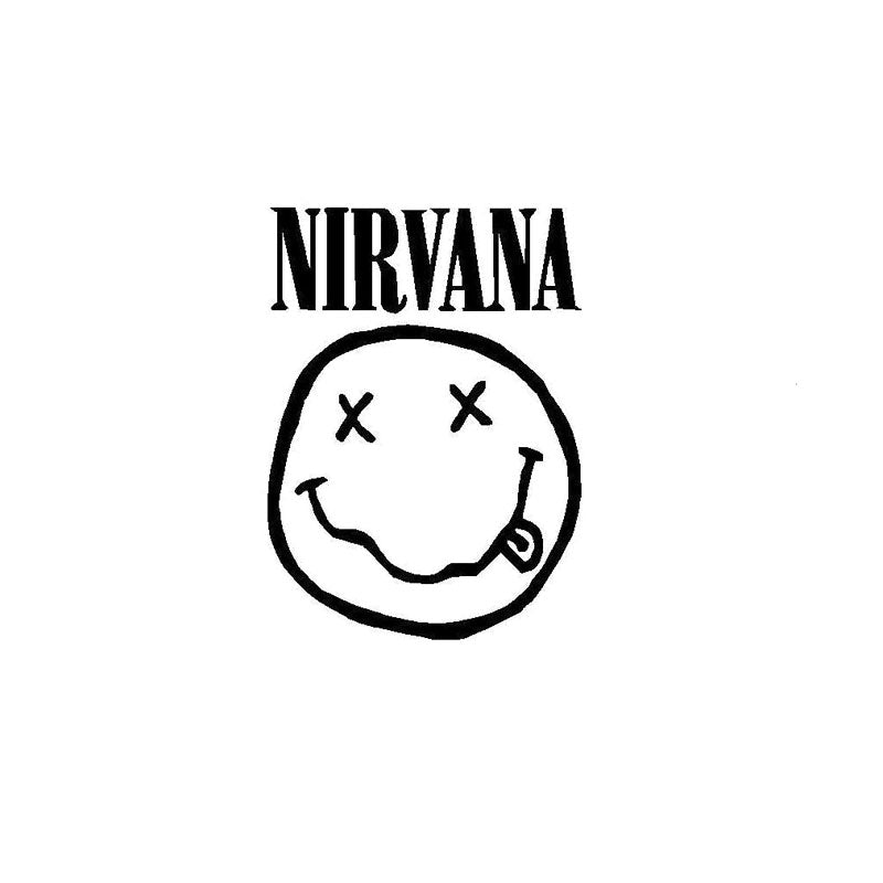 Smiley NIRVANA Car Decal