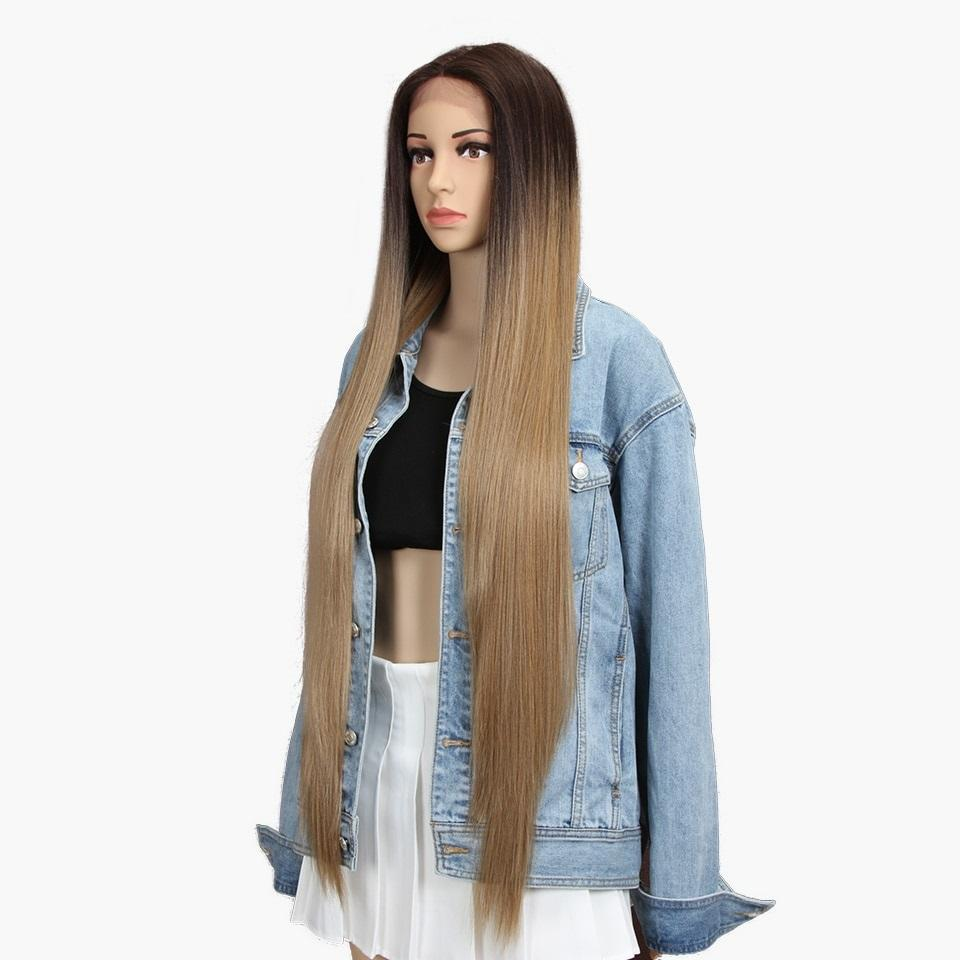 "Melodie - Ombre Dark to light brown 38"" Lace Front Wig - NeedIt.ca"