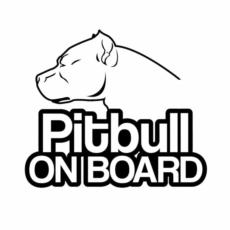 Waterproof Pit Bull on Board Car Decal