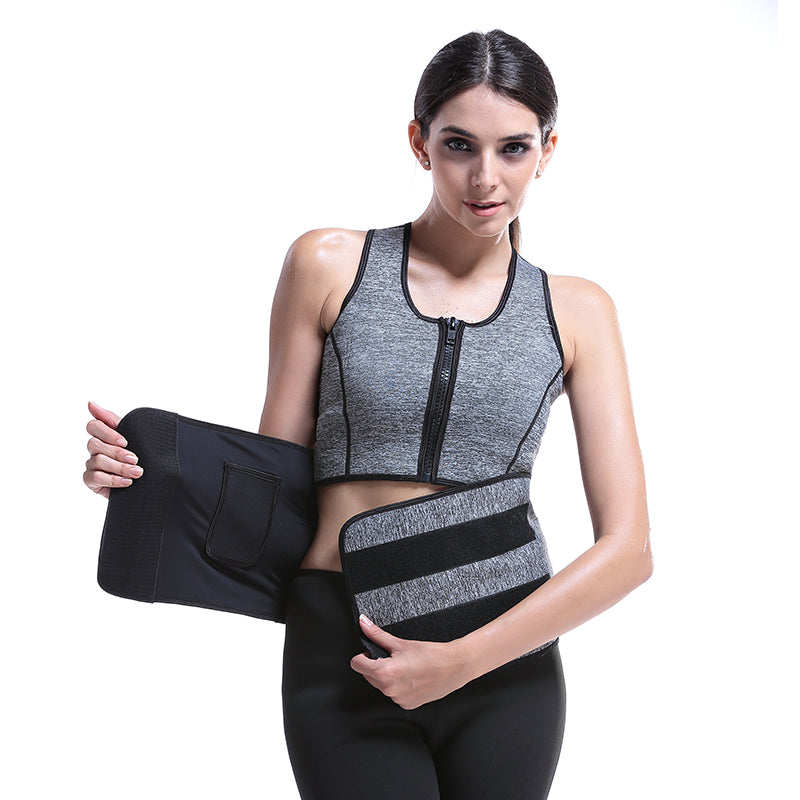 Thermal Neoprene Zipper Sweat Vest Belt