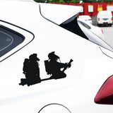 Firefighters with hose pipe  Car Decal