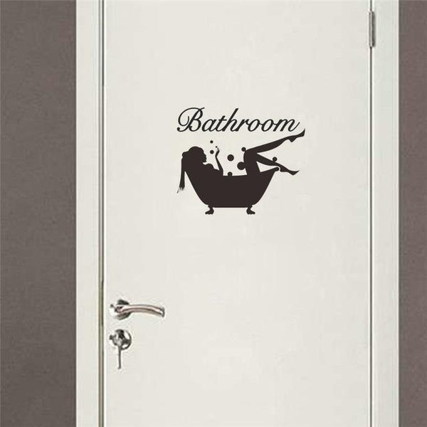 Bathroom / Toilet Decal - NeedIt.ca