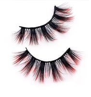 One pair of Colorful 3D Dramatic Faux Mink False Eyelashes