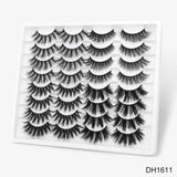 16 Pairs/set 3D Thick Natural Handmade Lashes