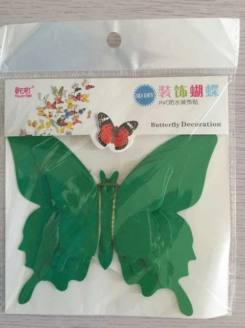 Green 3D Wall Butterflies