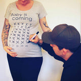 Maternity T-Shirt Countdown Baby is coming <3 Pregnancy Shirt - NeedIt.ca