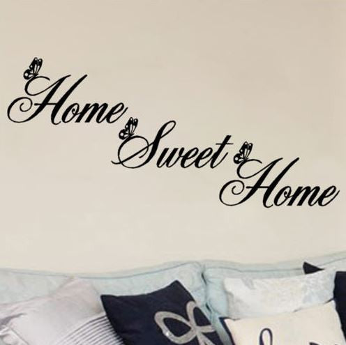 Home Sweet Home Inspirational Quote Wall Decal - NeedIt.ca