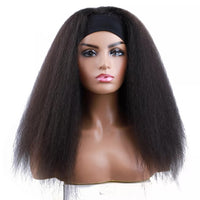 "Laila - Kinky Straight U-part Wig With Black Headband 24"" Long"