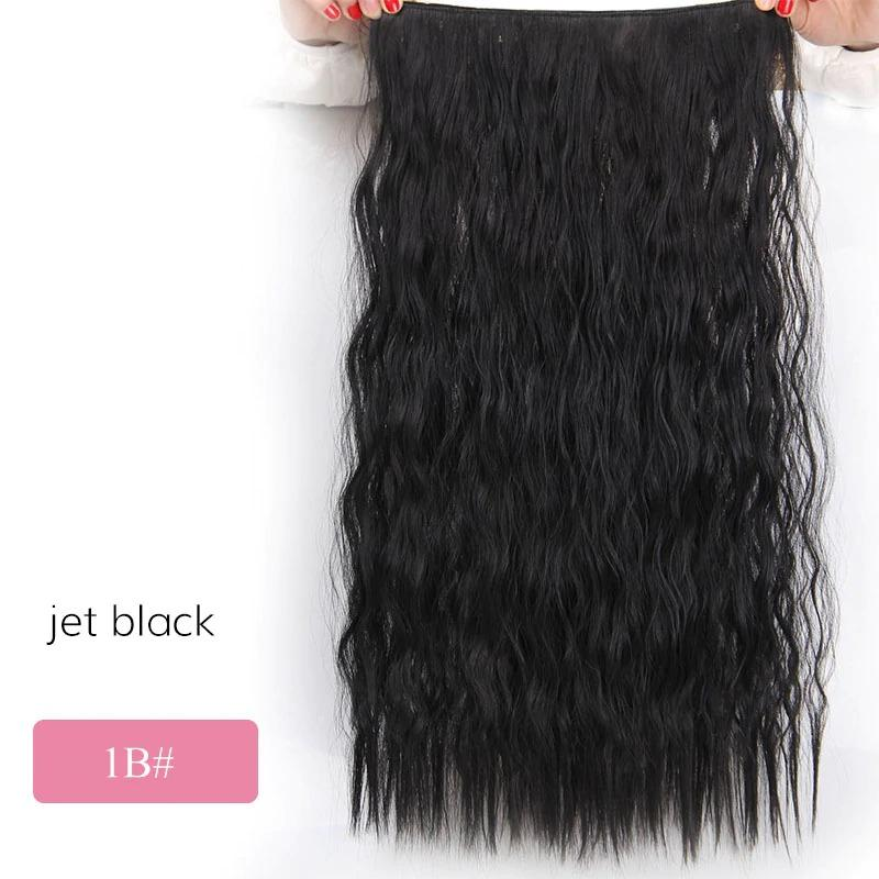 "n 22"" Wavy Black Clip in Hair Extensions - NeedIt.ca"