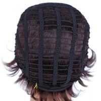 "Betty - Natural Wave Short Burgundy Full Head Wig 6"" Long"