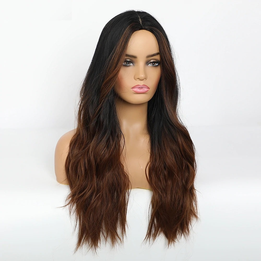 Alexandra Wavy Ombre Dark brown Wig