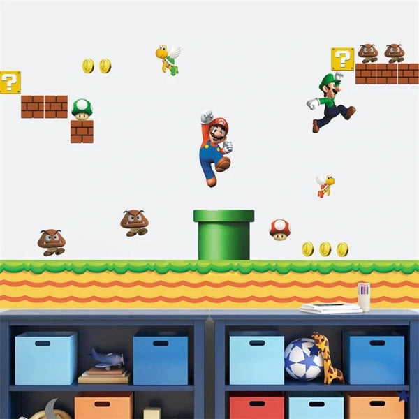 Mario and Luigi Wall Decal Game Sticker