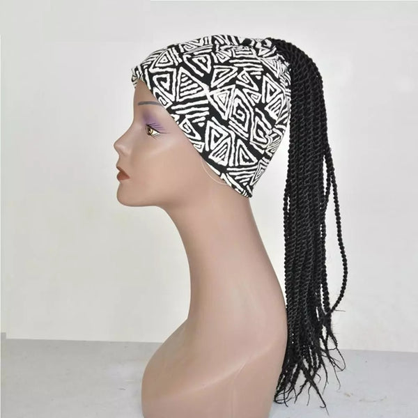 Honey - Headband Black Braids Wig