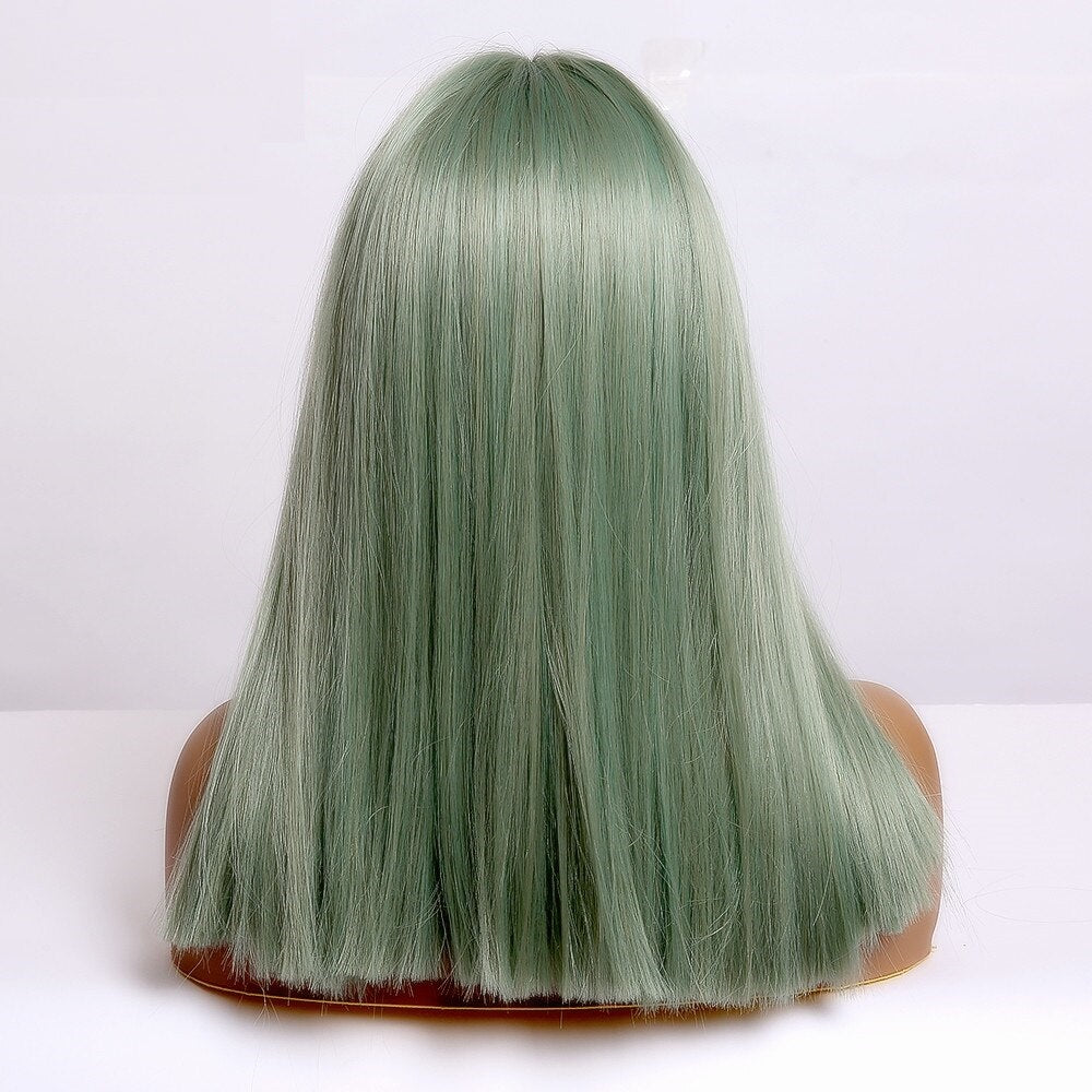 Minty - Light Green Wig with Bangs