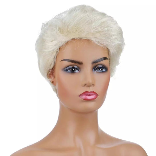 "Betty - Natural Wave Short Blonde Full Head Wig 6"" Long"