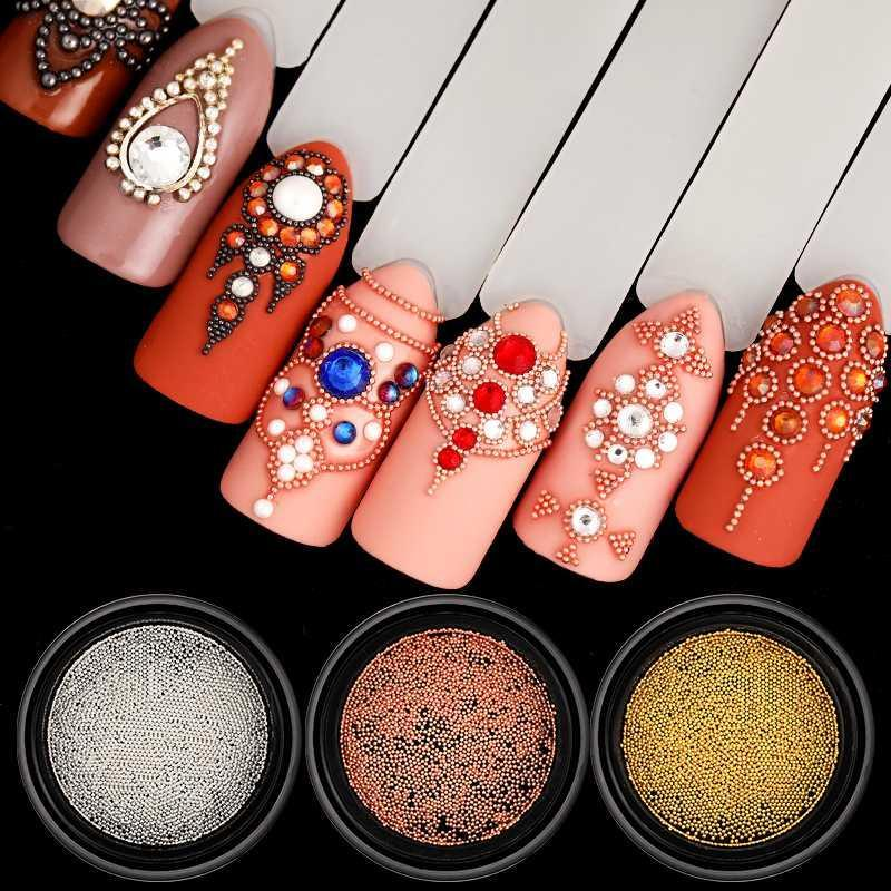 Metal 3D Beads Nail Art Decorations - NeedIt.ca