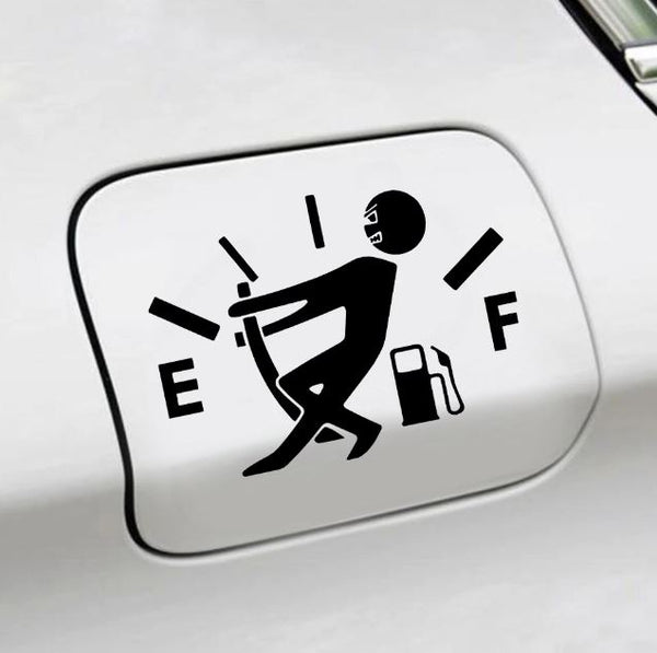 Pull Fuel Pointer Car Decal