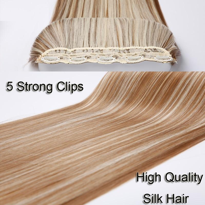 "n Premium Straight 24"" long Clip in Hair Extensions - NeedIt.ca"