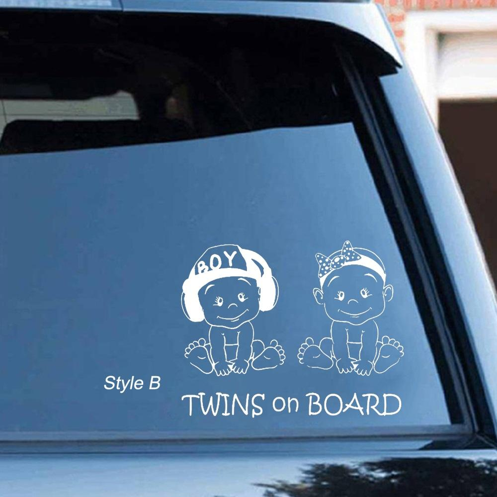 Twins on Board Car Decal - NeedIt.ca