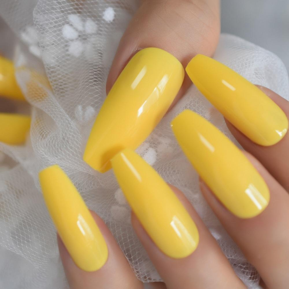 24 pcs/set - Neon Colour Press on False Nails - NeedIt.ca