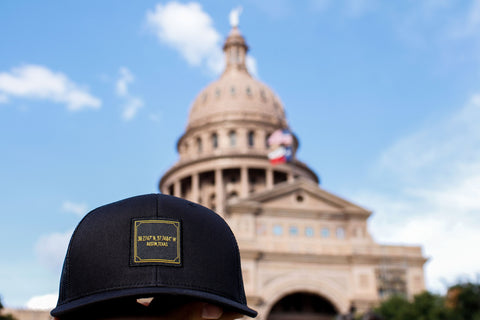 Austin Coordinates Black 6-Panel Snap Back