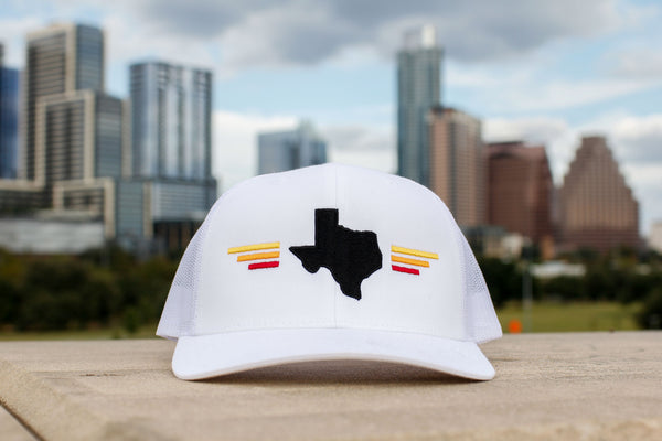 Texas Sunset White 6-Panel Snap Back